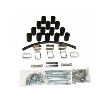 - Daystar PA70003 Body Lift Kit; 3 in. Lift; Incl. Steering Extension; Blocks; Extension Brackets; All Required Hardware;
