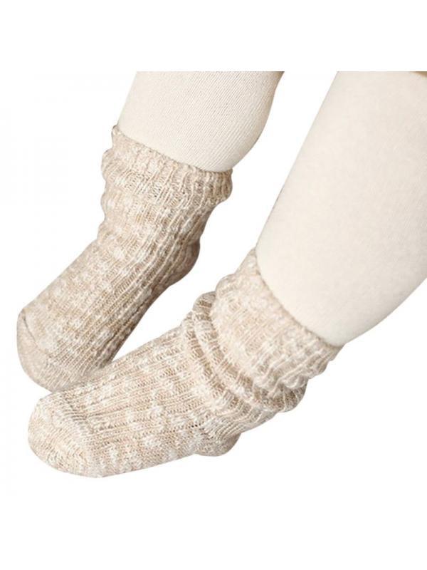 Ropalia Toddler Kids Anti-slip Socks Baby Infant Soft Socks Boys Girls Winter Knitting Socks