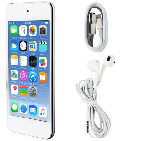 Apple iPod Touch 6th Generation (A1574) - 64GB / Silver (MGH42LL/A) (Refurbished) ()