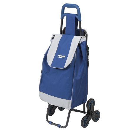 Drive Medical Deluxe Rolling Shopping Cart with Seat, (Drive Medical All Purpose Rolling Shopping Utility Cart)