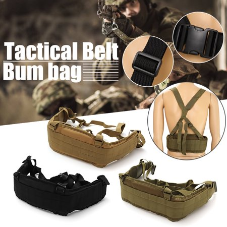 600D Load Training Belt Tactical Waist Airsoft Molle Padded Belt with Suspender ACU Waist Protector Military Waist Paintball Waistband Oxford Cloth