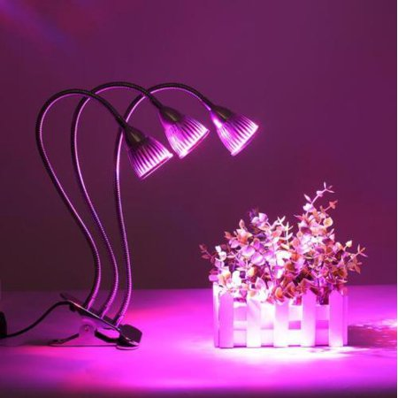 best sneakers 58589 1df7c LED Plant Grow Lights, 3 Heads Full Spectrum Grow Lamp 15W Greenhouse  Gooseneck LED Grow Light for Indoor & Outdoor Plants,Hydroponic ...