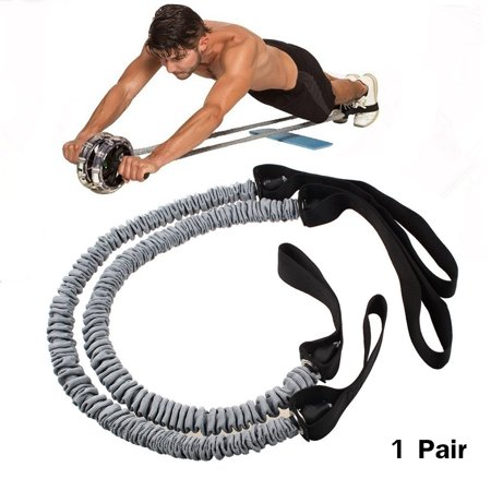 - Double Wheels Ab Roller Pull Rope Waist Abdominal Slimming Fitness Equipment