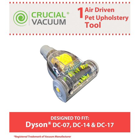 Turbo Brush Attachment - Replacement for Dyson DC07, DC14 & DC17 Air-Driven Pet Upholstery Turbo Brush Tool Attachment, by Think CrucialEASY TO INSTALL so you can get.., By Crucial Vacuum