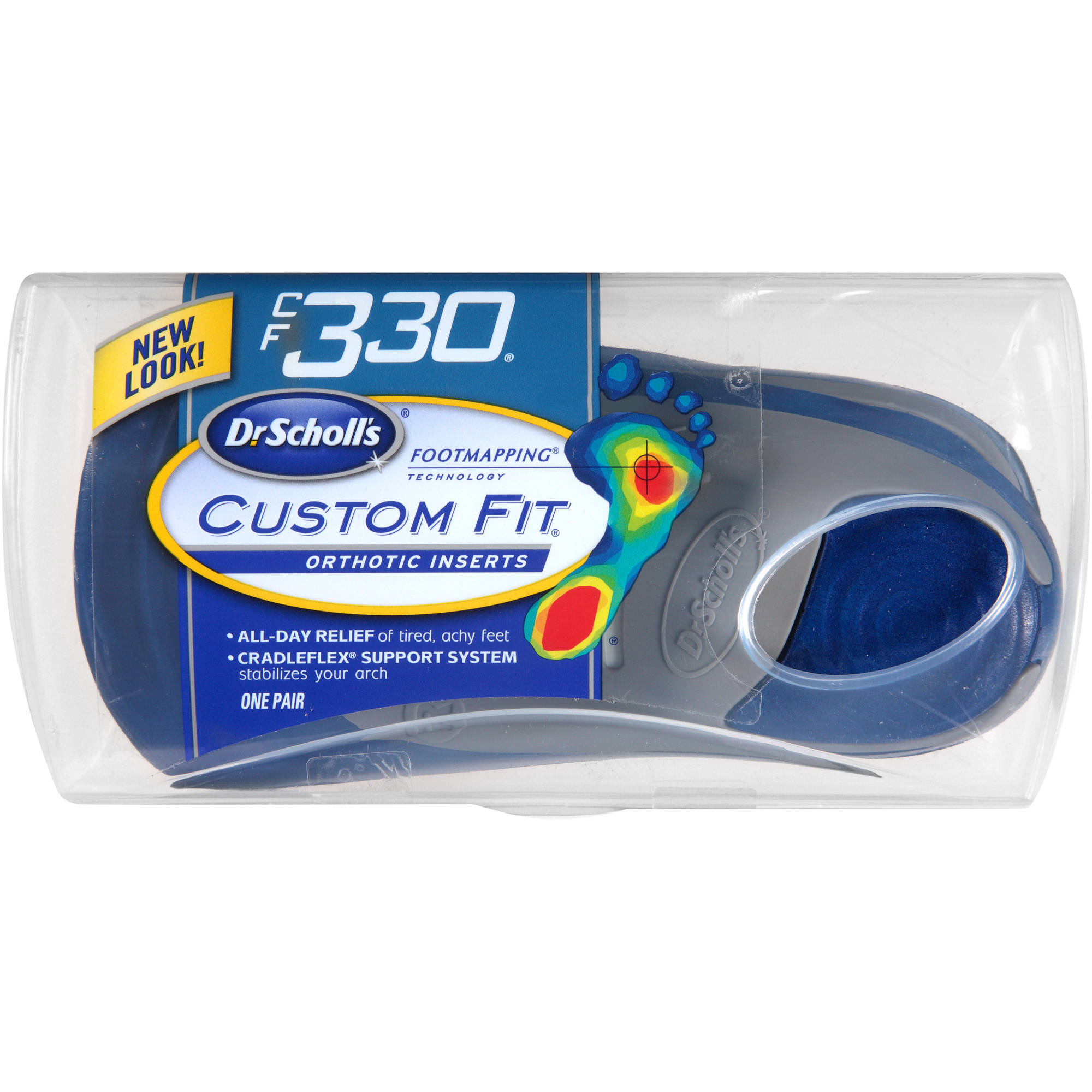 Dr. Scholl's Custom Fit CF330 Orthotic Inserts, 1 pr