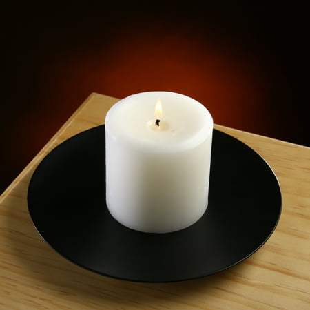 Mainstays Metal Large Round Pillar Candle Holder Plate Base Pillar Candle Holder