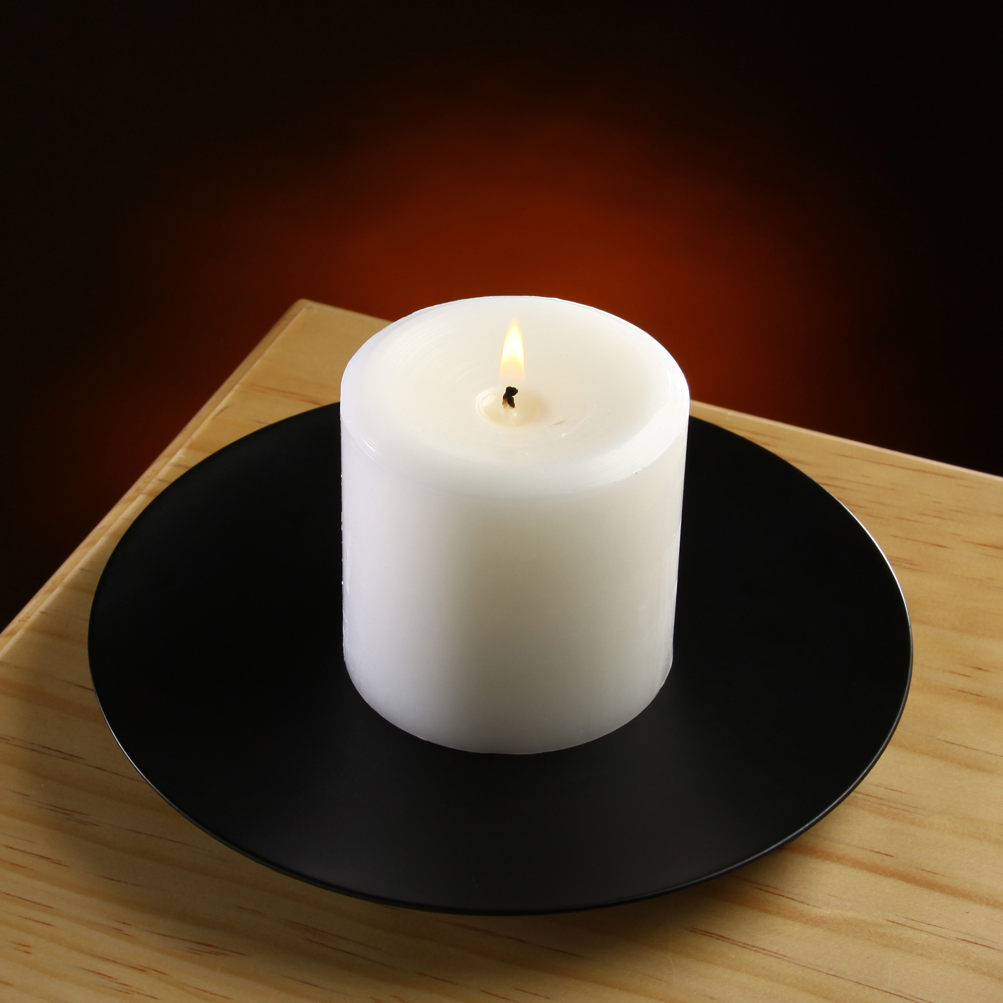 Mainstays Large Round Pillar Candle Holder Plate