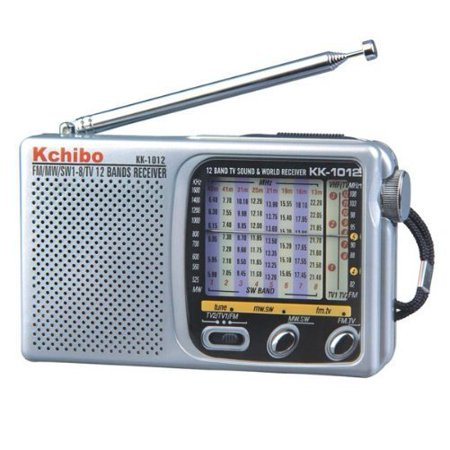 Portable 12-Band FM-Shortwave-TV Sound World Radio