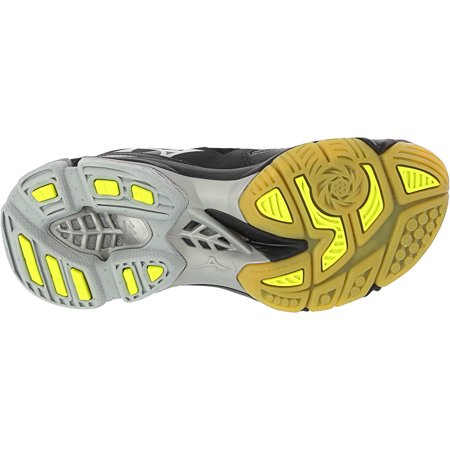 Mizuno Wave Lightning Z3 Volleyball Shoe - 7M - Black / Silver / Yellow - image 2 de 3