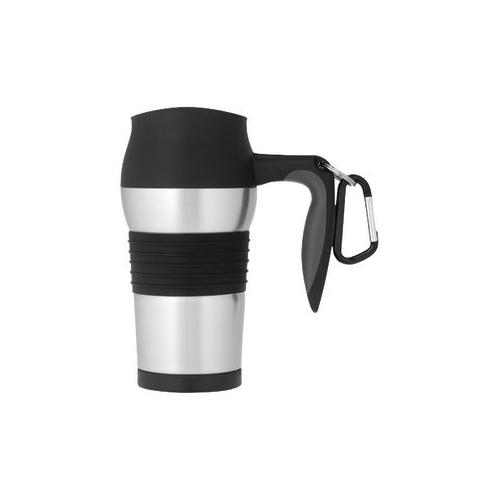 Thermos Nissan THERMOS NISSAN JMQ400P 14-OZ STAINLESS STEEL VACUUM INSULATED LEAK-PROOF TRAVEL MUG WITH CARABINER THR...