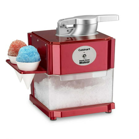 Cuisinart Specialty Appliances Snow Cone Maker (Red Snow Cone Machine)