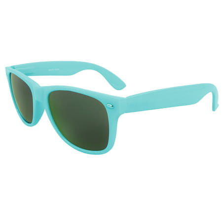 MLC Stylish Retro Horn Rimmed Sunglasses Blue Edition