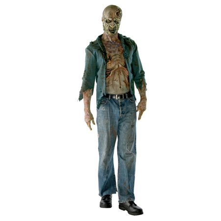 The Walking Dead Decomposed Zombie Deluxe Adult Costume](Walking Dead Halloween Makeup)