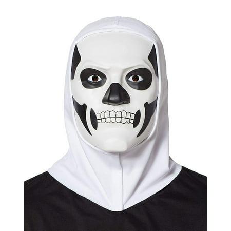 Fortnite Skull Trooper Adult Costume Mask w/ Hood