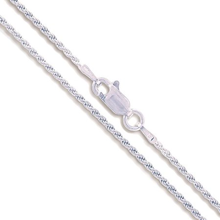Sterling Silver Diamond-Cut Rope Chain 1.4mm Solid 925 Italy New Necklace 16