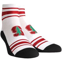 Stanford Cardinal Rock Em Socks Classic Stripes Quarter-Length Socks - White - L/XL