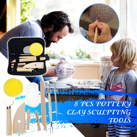 Polymer Carving - 8PCS Clay Sculpting Wax Carving Pottery Tools Polymer Ceramic Modeling Kit