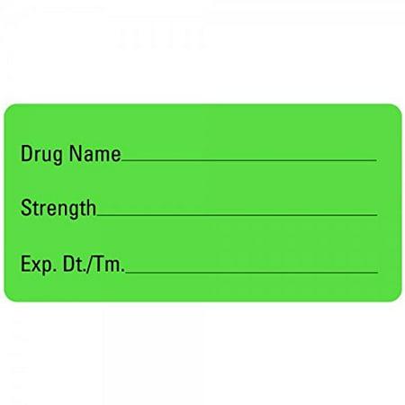 Drug Name Medical Healthcare Labels LV-MAN16, Label Dimension 2x 1 By LabelValuecom ()