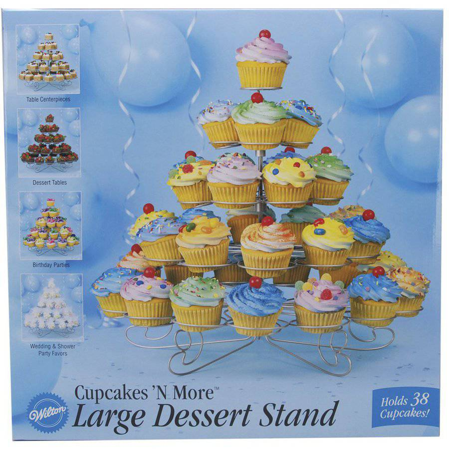 "Wilton Cupcakes 'N More 15""x18"" Large Dessert Stand, 38 ct. 307-651"