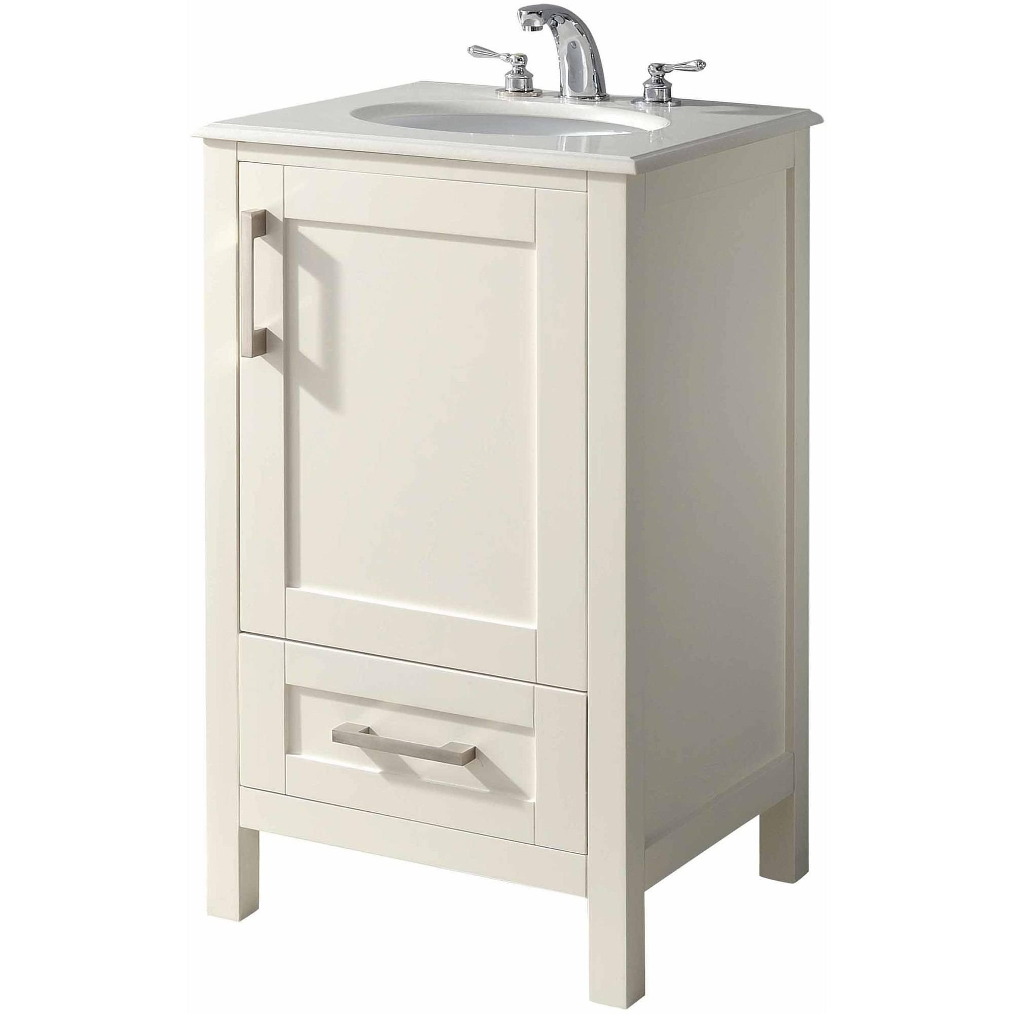 """Bathroom Vanities Brooklyn brooklyn and max newport soft white bath vanity, 20"""" - walmart"""