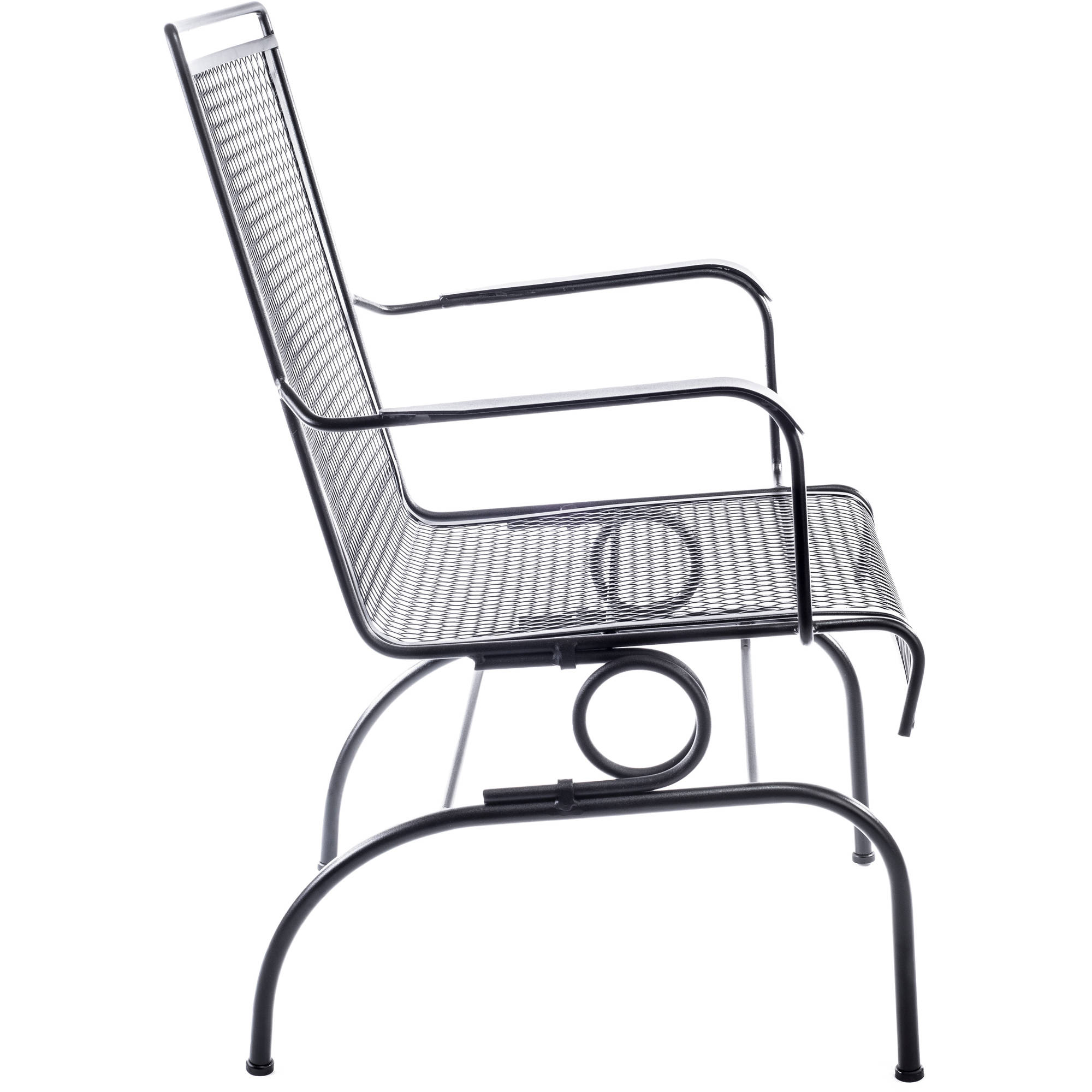 Arlington House Wrought Iron Motion Chair Outdoor Patio Furniture