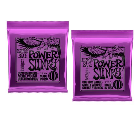 Ernie Ball Power Slinky Electric Guitar Strings, Nickel Wound, Lot/2, P02220^2