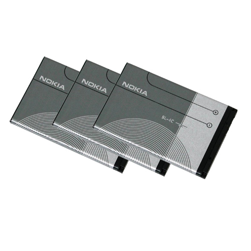 Replacement Battery for Nokia BL-4C (3 Pack)