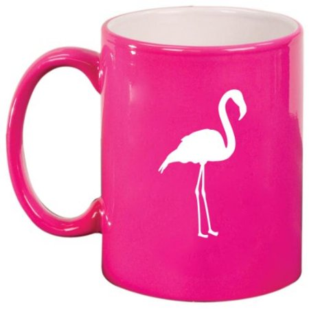 Flamingo Ceramic Coffee Tea Mug Cup Hot Pink