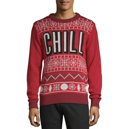 American Stitch Men's Chill Ugly Christmas Sweater ()