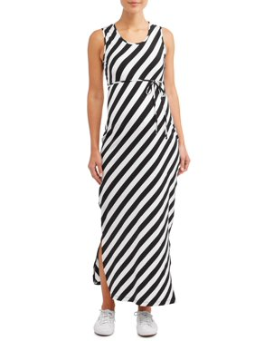 62d6de9696981 Product Image Maternity Stripe Sleeveless Maxi Dress - Available in Plus  Sizes