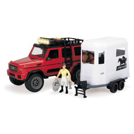 Dickie Toys - Playlife, Horse Trailer Set - Horse Stock Trailer