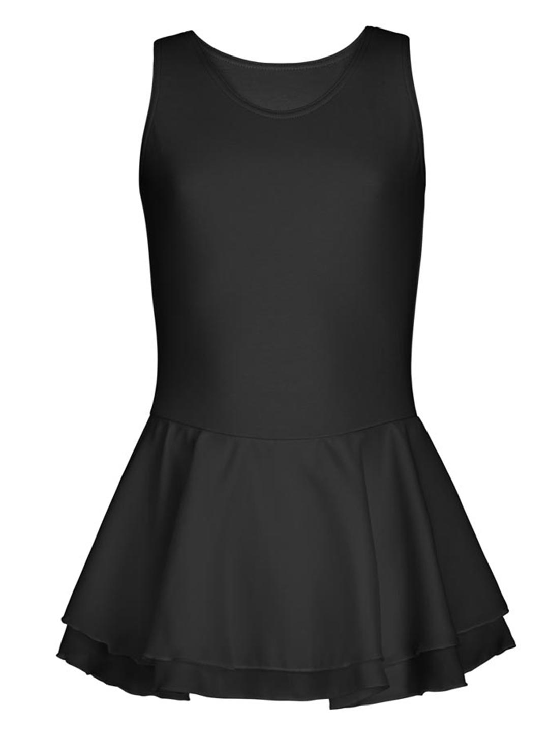 Double Layer Skirt Tank Dress - Girls