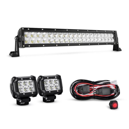 nilight 22 inch 120w spot flood combo led light bar 2pcs 4. Black Bedroom Furniture Sets. Home Design Ideas