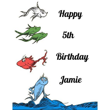 Dr Seuss One Fish Two Fish Red Fish Blue Fish Edible Frosting Image  Cake Topper Sheet  1/4 - Dr Mcstuffin Cake