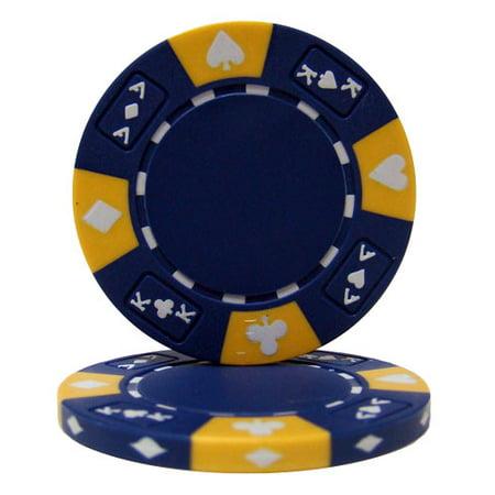 Blue - Ace King Suited 14 Gram Poker Chips