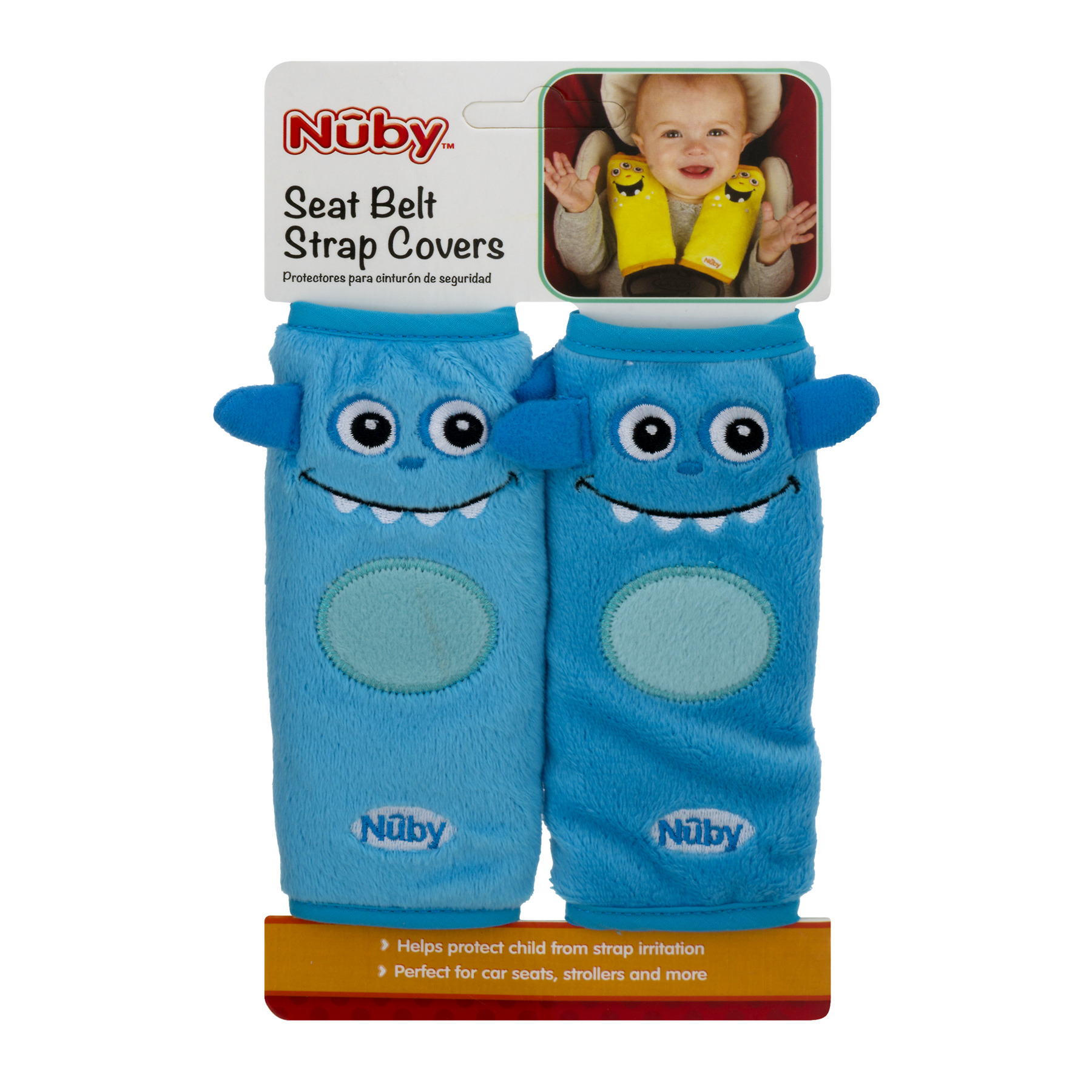 Nuby Seat Belt Strap Covers, 1.0 CT