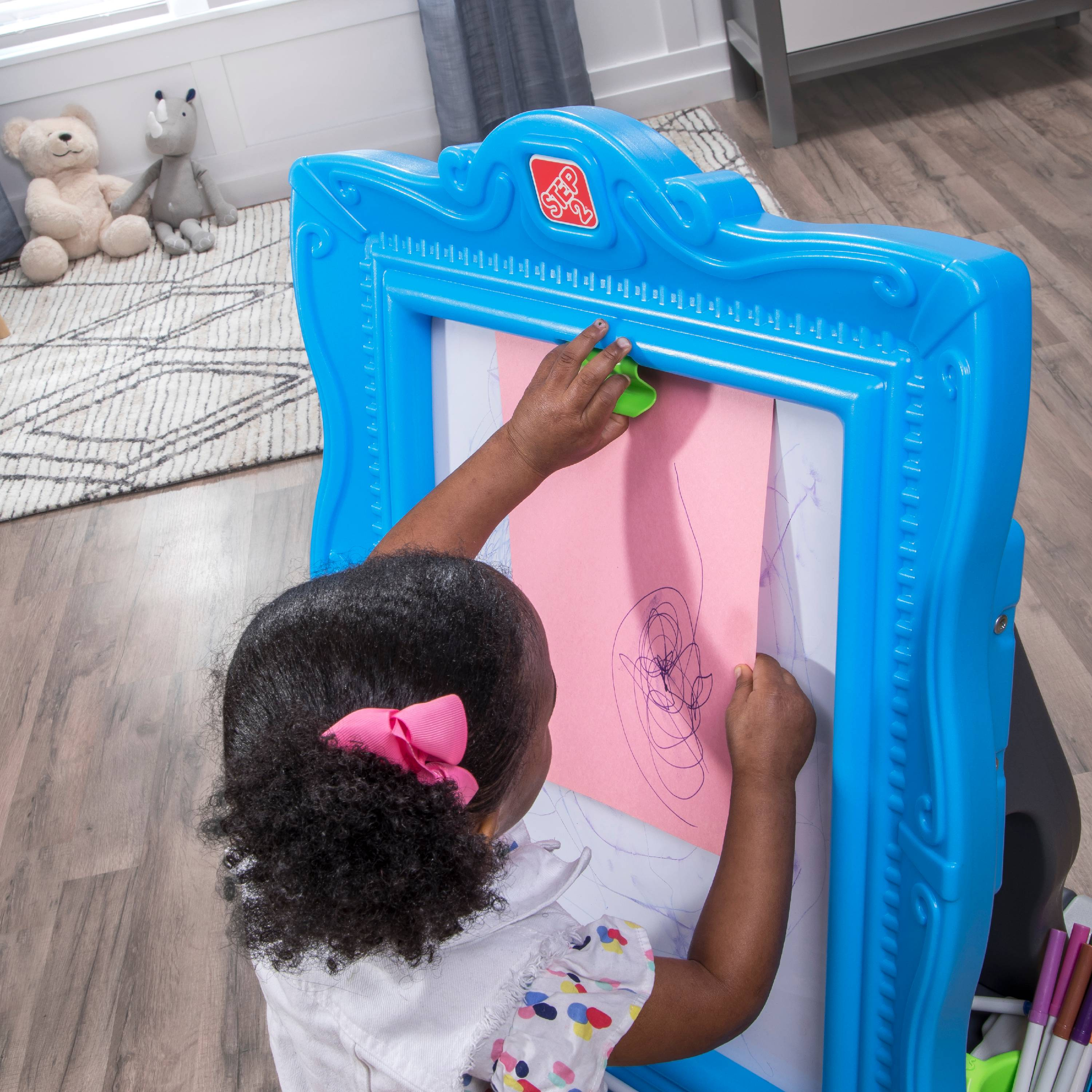 Details About Step2 Masterpiece Detachable Easel Coloring Art Educational Toy For Kids Blue