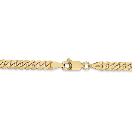 14K Yellow Gold 3.9mm Beveled Curb Chain - image 4 of 5