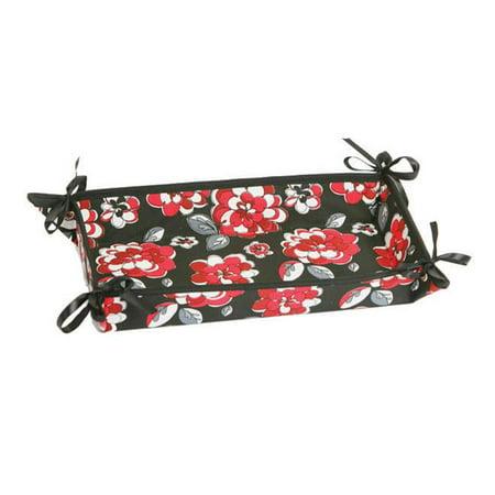 Platinum Hostess Tray (Hostess Appetizer Tray - Red Carnation)