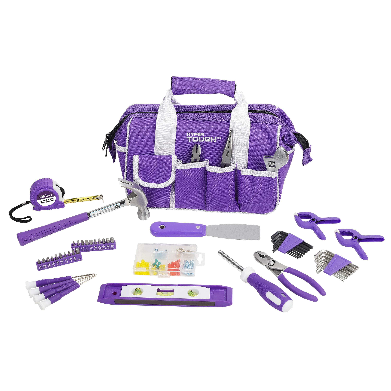 Hyper Tough 53-Piece Home Repair Tool Set, Purple