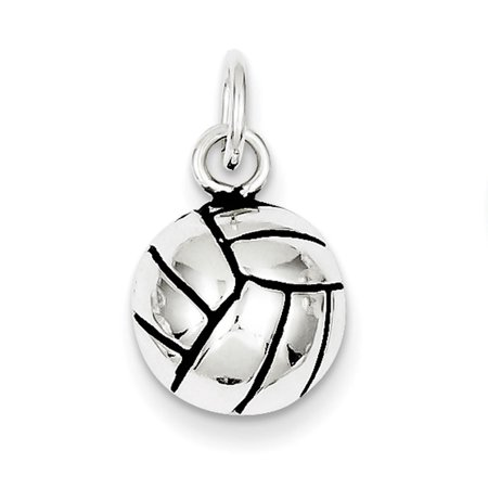 Sterling Silver Antiqued Volleyball Charm](Volleyball Charm)
