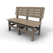 Country Bench by Malibu Outdoor, Weathered Wood - 48''