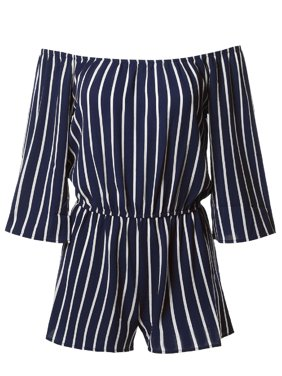 fa017d7ca61 Product Image FashionOutfit Women s Pinstripe Print Off-Shoulder Romper  Jumpsuit