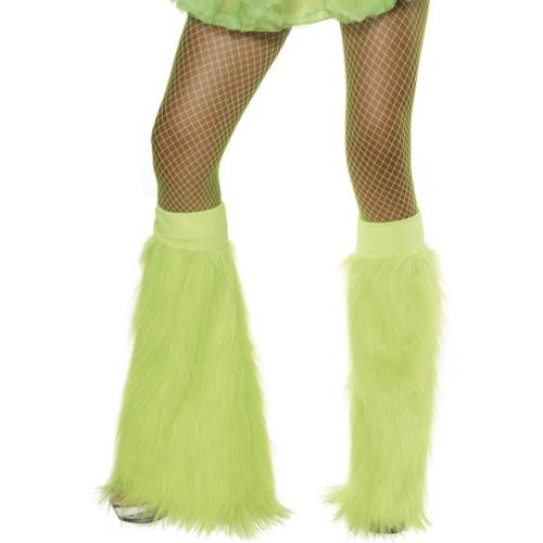 Green Neon Furry Costume Accessory Bootcovers