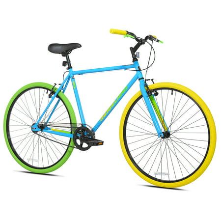 Kent 700C Men's Ridgeland Hybrid Bike, Blue/Green