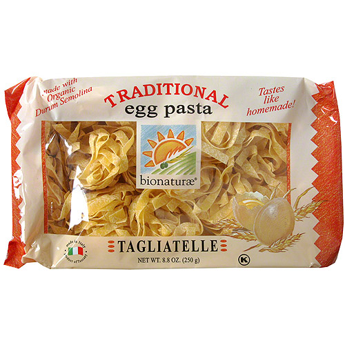 Bionaturae Organic Egg Tagliatelle Pasta, 8.8 oz (Pack of 6)