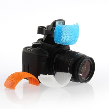 3 Color Good Qualtity Pop-Up Flash Diffuser Cover for Canon for Nikon - image 5 of 6