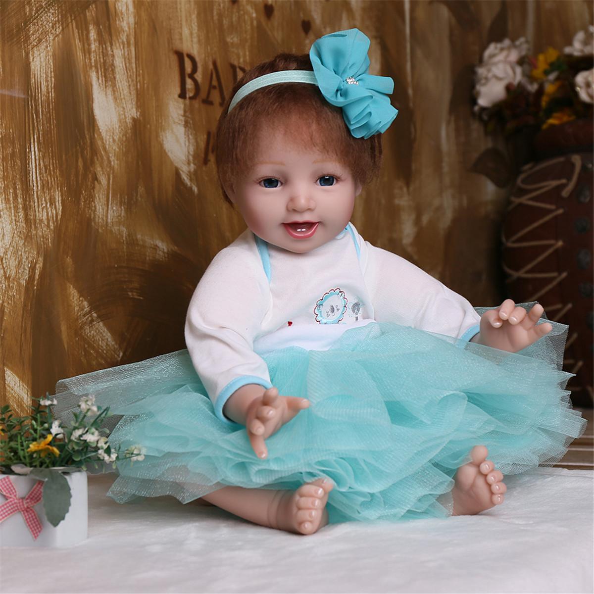 "16/""Reborn Newborn Dolls Handmade Vinyl Silicone Boy Doll Christmas Birthday Gift"