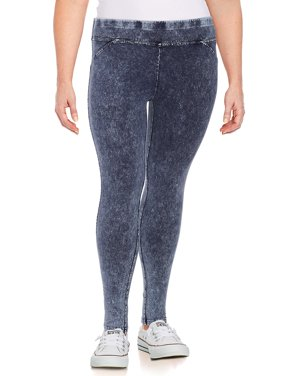Plus Marbled Wash Jeggings