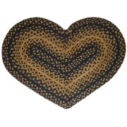 Ebony Black and Tan Jute Braided Area Rug